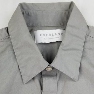 Everlane Men's Long Sleeve Gray Shirt Size XS